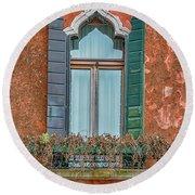 Moorish Window And Texture Venice_dsc5350_03052017 Round Beach Towel