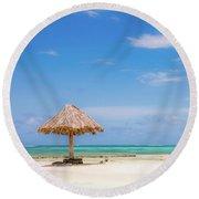 Mopion Island Round Beach Towel
