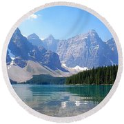 Moraine Lake Down Low Round Beach Towel