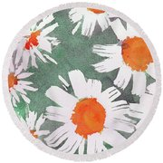 More Bunch Of Daisies Round Beach Towel