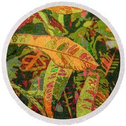 More Fern Abstraction Round Beach Towel