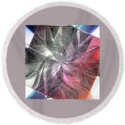 More Shattered Art Round Beach Towel