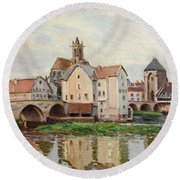 Moret-sur-loing. Morning Round Beach Towel