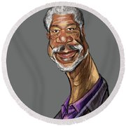 Morgan Freeman Round Beach Towel