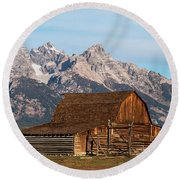 Mormon Barn Round Beach Towel