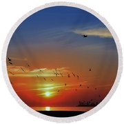 Morning Active Round Beach Towel