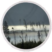 Morning Along The Madison Round Beach Towel