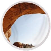 Morning Arch Round Beach Towel