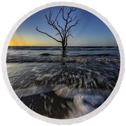 Morning At Botany Bay Plantation Round Beach Towel