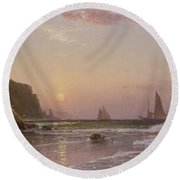 Morning At Grand Manan Round Beach Towel
