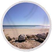 Morning At Qgunquit Beach 2. Round Beach Towel