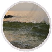 Morning At The Edge Of The Continent Round Beach Towel