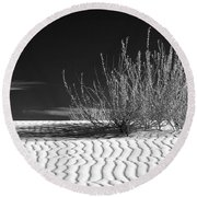 Morning At White Sands  Round Beach Towel