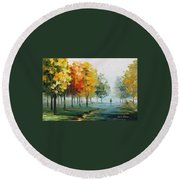 Morning Breeze Round Beach Towel
