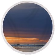 Morning Clouds Round Beach Towel