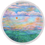 Morning Color Dance Round Beach Towel