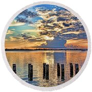 Morning Colors By H H Photography Of Florida Round Beach Towel