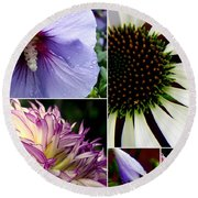 Morning Delight Round Beach Towel by Priscilla Richardson