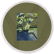 Morning Dogwood Round Beach Towel