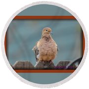 Morning Dove Round Beach Towel
