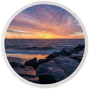 Morning Extremes  Round Beach Towel
