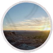 Morning Formations Round Beach Towel