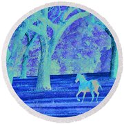Morning Gallup Round Beach Towel