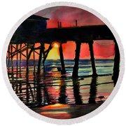 Morning Glow 4-27-15 Round Beach Towel