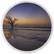Morning Glow On Edisto Island Round Beach Towel