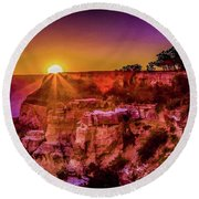 Morning Has Broken 2-painterly Round Beach Towel
