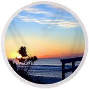 Morning I I Round Beach Towel