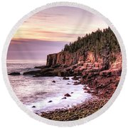 Morning In Acadia Round Beach Towel