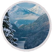 Morning In Bavaria Round Beach Towel