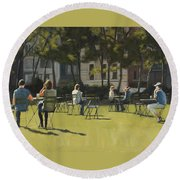 Morning In Bryant Park Two Round Beach Towel