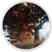 Morning In Tennessee Round Beach Towel