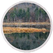 Morning In The Mirror Round Beach Towel