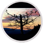 Morning In The Rockies Round Beach Towel