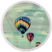 Morning Lift Off  Two Round Beach Towel