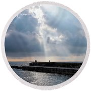 Morning Light At The Cobb Round Beach Towel