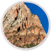 Morning Light In Zion Canyon Round Beach Towel