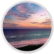 Morning Light On Rosemary Beach Round Beach Towel