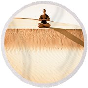 Morning Meditation Round Beach Towel