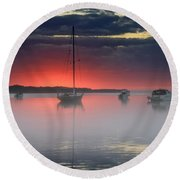 Morning Mist - Florida Sunrise Round Beach Towel