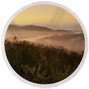 Morning Mist Three Round Beach Towel