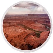 Morning On Dead Horse Point Round Beach Towel