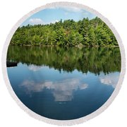 Morning On Lincoln Pond Round Beach Towel