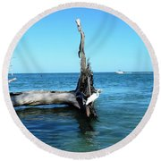 Morning On Longboat Key Round Beach Towel