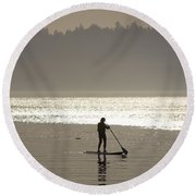 Morning Paddle Round Beach Towel