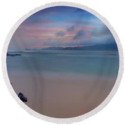 Morning Pastels Round Beach Towel