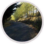 Morning Path Round Beach Towel